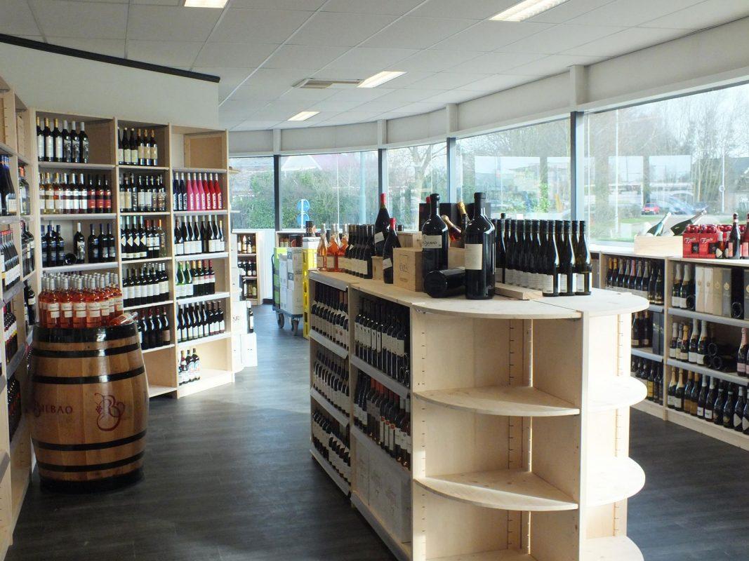 wijnrekken drankenhandel bouwhuis