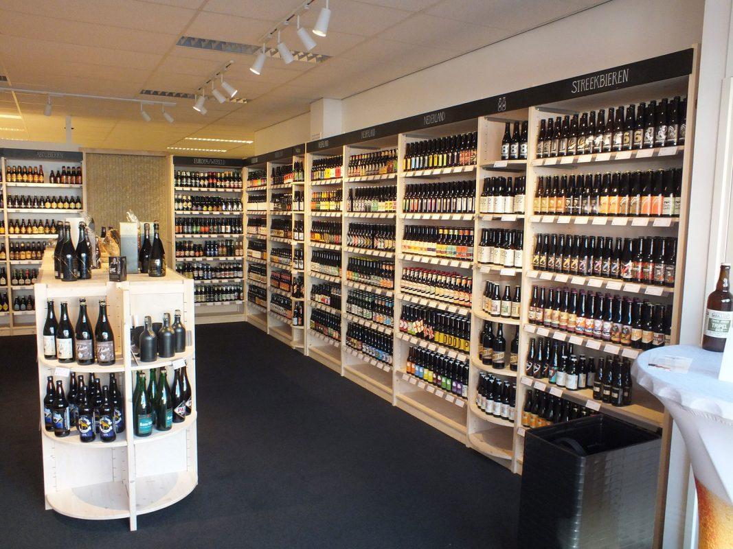 winkelinrichting stellingen wijn